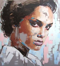 Jimmy Law is a self-taught artist and painter of expressive portraits and expressive nudes and resides in Cape Town, South Africa. Abstract Faces, Abstract Portrait, Portrait Art, Jimmy Law, Guache, Arte Pop, Art Plastique, Figure Painting, Face Art