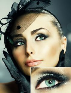 Black Water Snake Eye Makeup Style// Albrecht Events, Philadelphia