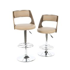 Favorite Finds Adjustable Height Swivel Bar Stool with Cushion (Set of 2)