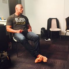 """""""I can feel it coming in the air tonight.."""" #Backstage #WrestleMania #HistoryWillBeMade #CalmBeforeTheElectricity"""