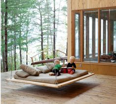 Here's a great outdoor swing platform for both kids and adults to enjoy....