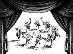창작자들의 놀이터 : 그라폴리오 #일러스트 #일러스트레이션 #illust #illustration #해골 #죽음 #death #skull #dance #춤