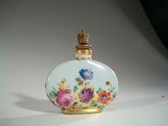 Vintage 1930'S German Perfume Bottle Crown TOP Hand Painted Dresden | eBay