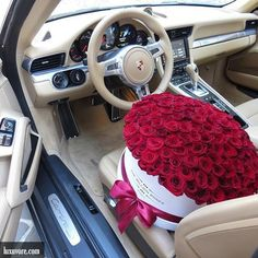Who'd you give these to?  #luxury #lifestyle #rich #life #roses #car #cars…