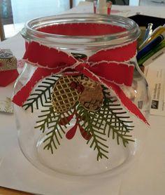 weihnachtliches Gefäß #tannenzauber #kreativmitstempeln #stampinup