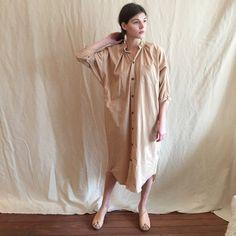 Milena Silvano knot dress sandalwood