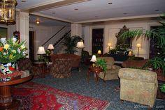 The lobby of the Hawthorne Hotel in Salem, Massachusetts www.hawthornehotel.com