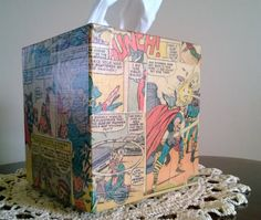 The Mighty Thor superhero comic book decoupage by PastePotPrefects, $20.00