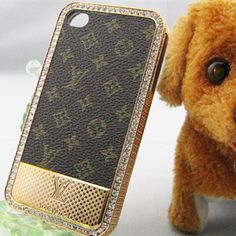 Designer Louis Vuitton iPhone 4 Case LV iPhone 4S Case - Monogram