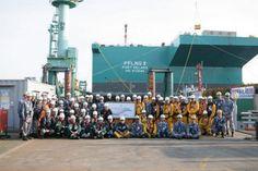 Petronas: PFLNG2 hull launched at SHI's shipyard