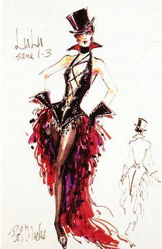 Bob Mackie Fashion Burlesque Show, Burlesque Costumes, Theatre Costumes, Dance Costumes, Bob Mackie, Look Retro, Fashion Art, Fashion Design, Emo Fashion