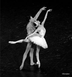Ludmila Pagliero and Germain Louvet in Swan Lake  Isabelle Aubert