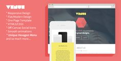 Venue – Creative And Flat Responsive Landing Page