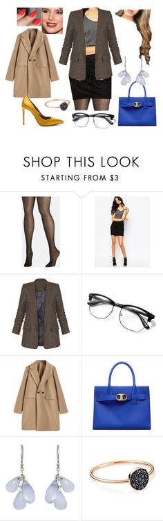 """""""Bez tytułu #19378"""" by sophies18 ❤ liked on Polyvore featuring Avenue, Noisy May, Wes Gordon, Tory Burch, Ten Thousand Things, Ginette NY and Aquazzura"""