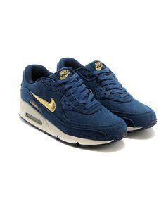 7d91aedd0b3404 Sale Nike Air Max 90 Womens Blue Shoes Online UK 1270