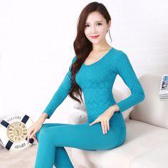 Nuevo 2016 señoras atractivas de la ropa interior térmica seamless antibacterianos cálida long johns mujeres body forma underwear sets