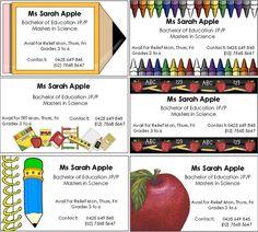 FREE Editable Business Cards Teachers