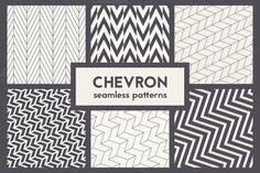 Chevron Seamless Patterns by Curly_Pat on Creative Market