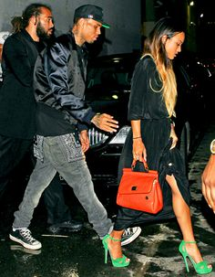 Chris Brown and Karrueche Tran Party Together After BET Awards