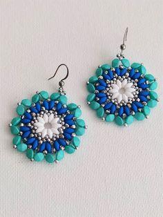 #japohu Hippie Flowers, Flower Mandala, Drop Earrings, Jewelry, Art, Jewellery Making, Craft Art, Jewelery, Drop Earring