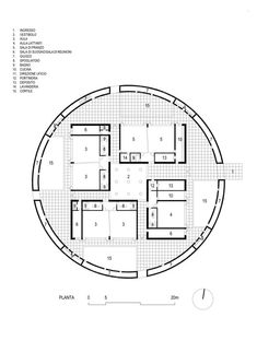 Alberto Campo Baeza, Marco Zanta, Hisao Suzuki · Day Care Center for Benetton ·… Classroom Architecture, Plans Architecture, Architecture Drawings, School Architecture, Contemporary Architecture, Architecture Details, Kindergarten Design, Kindergarten Lesson Plans, Round Building