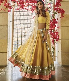 From the latest lehengas to cocktail gowns, traditional trousseaus to languid lingerie - we have you covered for the best of Indian Bridal Fashion! Indian Wedding Outfits, Bridal Outfits, Indian Outfits, Indian Clothes, Western Outfits, Wedding Dresses, Indian Lehenga, Red Lehenga, Yellow Lehenga
