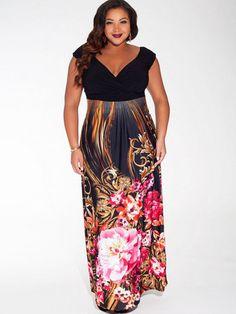 Tropical Beauty Plus Size Maxi Dress | Formal Plus Size Dresses ...
