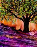 "Alcohol Inks - ""Lavender Flow"""