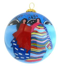 'Daughter of the Sky Woman' Glass Ornament