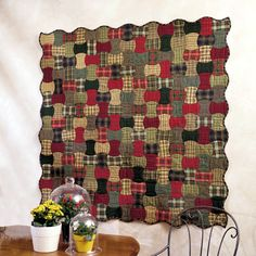 Apple Core Quilt - Love at first sight with these plaids.