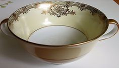 "Vintage Noritake China ""Revenna"" Two-Handled Soup Bowl  #7270 - Made in Japan"