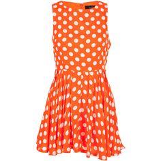 AX Paris Polka Dot Dress found on Polyvore
