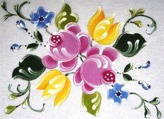 Pintura em Tecido Passo a Passo Com Fotos: Pintura em Tecido Bauernmalerei no Tecido III