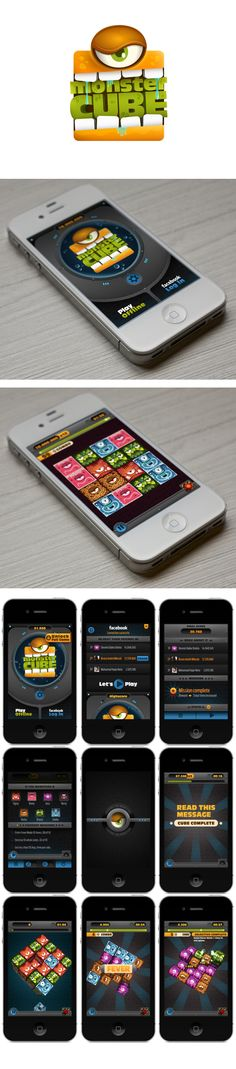Monster Cube. A great clean and simple UI design.