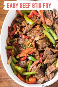 EASY BEEF STIR FRY Easy Beef Stir Fry that happens in 30 minutes! I marinate the beef using vacuum sealing system. This beef stir-fry is so perfect with boiled rice or in a wrap. Get the recipe on Precious Core. Easy Beef Stir Fry, Steak Stir Fry, Beef Stir Fry Sauce, Healthy Stir Fry, Healthy Weeknight Dinners, Healthy Dinner Recipes, Easy Meals, Easy Beef Recipes, Mince Recipes