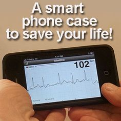 Smart phone case detects heart problems - and saves lives. An ECG on your phone!