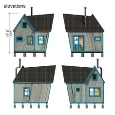 2 Bedroom small house planswith construction process complete set of tiny house plans construction progress + comments complete material list + tool list DIY building cost$14,500 FREE sample plans of one of our design