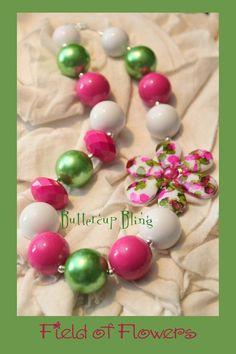 Little Girls Chunky Bubblegum Beaded Necklace  by ButtercupBling, $24.00