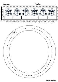 FREE Roll and Race Worksheet for ANY Spelling List