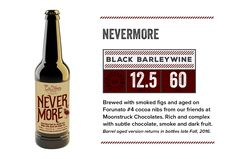 "Ex Novo - ""Nevermore"" Black Barleywine 12.5% AV - The Nation's First Non-Profit Brew Pub offering Food, Beer & Cider in Portland, Or"