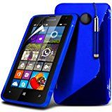 Microsoft Lumia 532 S-Line Wave Gel Case Cover (Blue) Plus Free Gift, Screen Protector and a Stylus Pen, Order Now Best Valued Phone Case on Amazon! By FinestPhoneCases