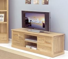 baumhaus mobel oak widescreen television cabinet cor09b solid oak furniture wooden furniture shelf