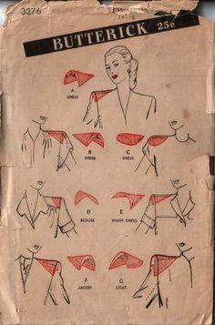 Vintage Miss Dress Shoulder Pads Set Butterick Sewing Pattern 4276 FF Dress Sewing Patterns, Vintage Sewing Patterns, Sewing Hacks, Sewing Tutorials, Couture Sewing Techniques, Patron Vintage, Tailoring Techniques, Fashion Sewing, 1940's Fashion