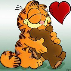 garfield   Foto de Garfield y su osito. Imagen de Garfield y su osito (Gigante ...