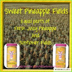 Pink Zebra Sprinkles: Fresh Juicy Pineapple and Sunflower Fields! Smells delightful! Order your Pink Zebra here http://pinkzebrahome.com/tiffanyssprinkles