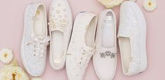 Keds and Kate Spade collaborated on a new wedding sneakers collection. You'll want to take a look at these jewel-detailed and sparkly bridal shoes that are extra comfortable.