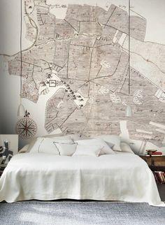 Alte Karte: Wandbild Gamla Uppsala Von Sandberg #skandinavisch #design # Tapezieren #vintage