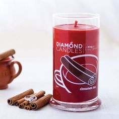 Love this Red Cinnamon Tea Ring Candle by Diamond Candles on Jewelry Candles, Candle Rings, Candle Jars, Candle Holders, Red Candles, Luxury Candles, Scented Candles, Diamond Candles, Cinnamon Tea