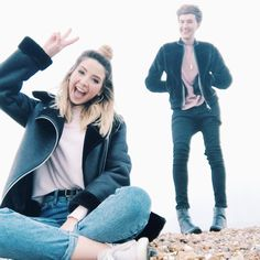Zoe Sugg and Mark Ferris Zoella Outfits, Mark Ferris, Sugg Life, Zoe Sugg, Instagram And Snapchat, Beauty Quotes, Celebs, Celebrities, Cute Couples