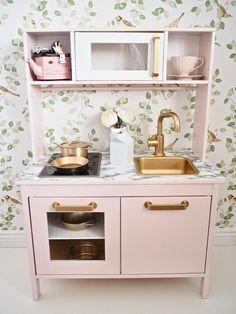 Pastel Pink Ikea Duktig Kitchen - Image From Dainty Dress Diaries